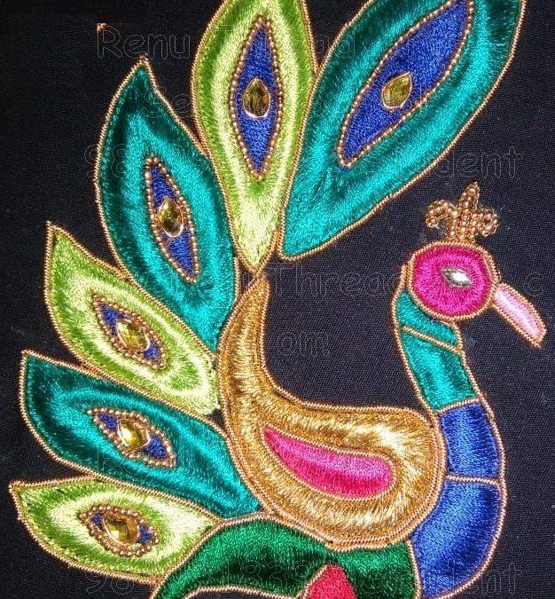 Aari embroidery student BaluPriya's work is uploaded to YouTube