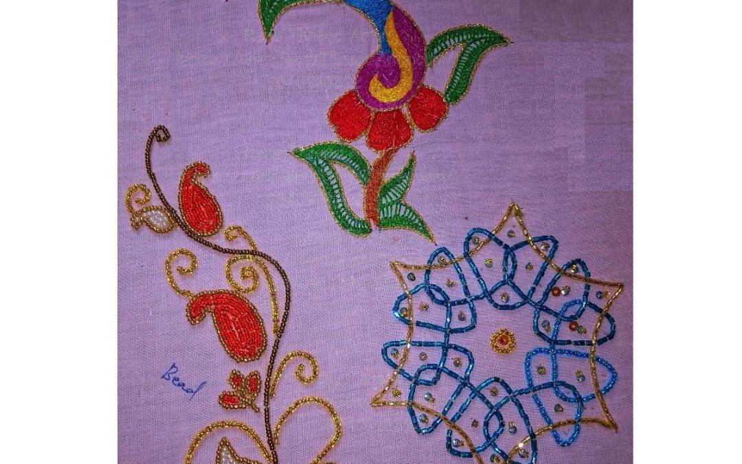 Aari basic level student Suganya's super work