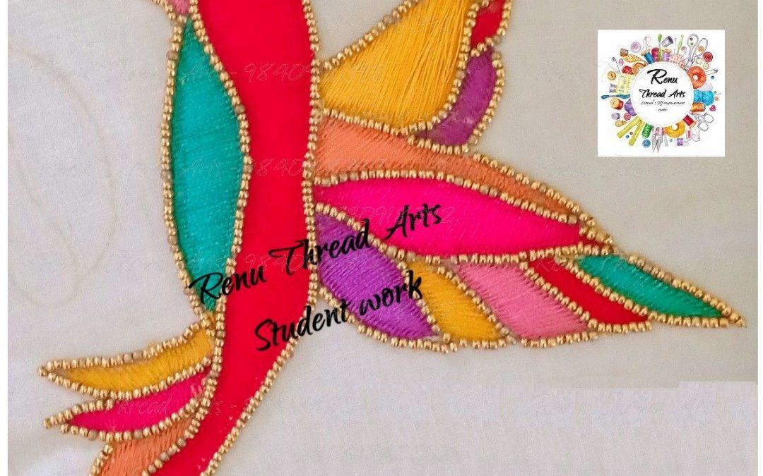 Renu Thread Arts – Aari embroidery Student Nabeela's superb work