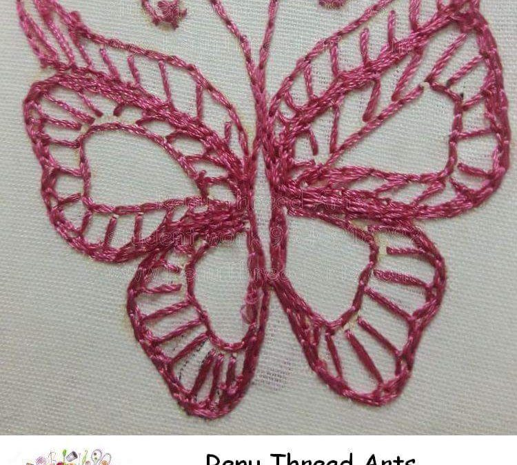 Aari Embroidery Class basic level student Thenmozhi's neat work