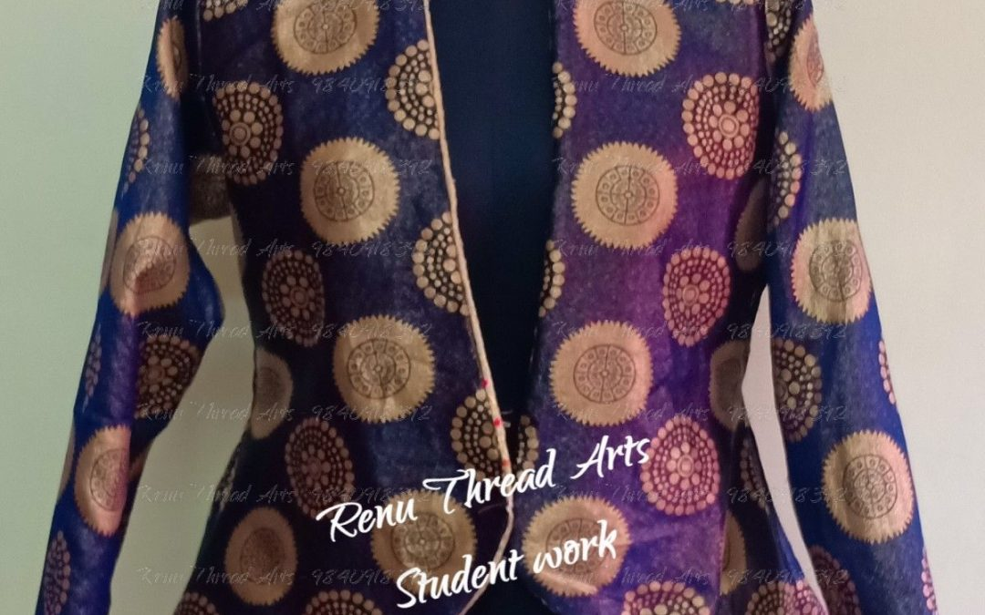Designer Reversible Jacket by student Saravana Priya's Superb work