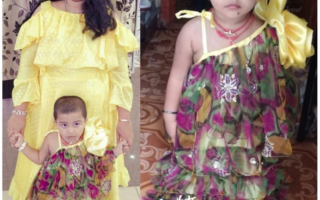 Designer Party wear for Mom and Child