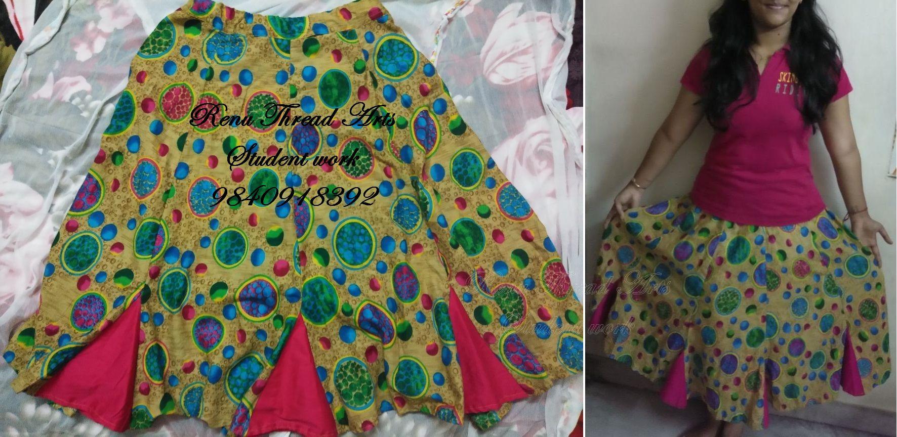 Our student work – Godet panel skirt