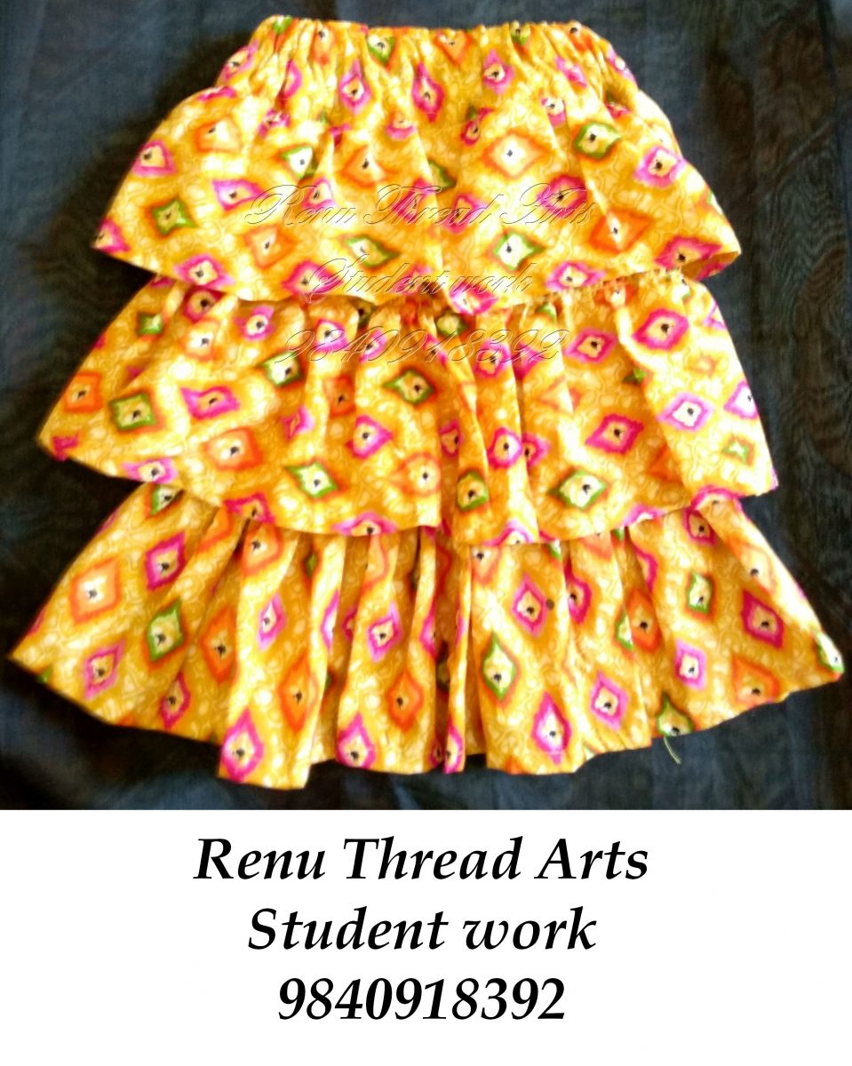 Our student work – Tier skirt for baby size.