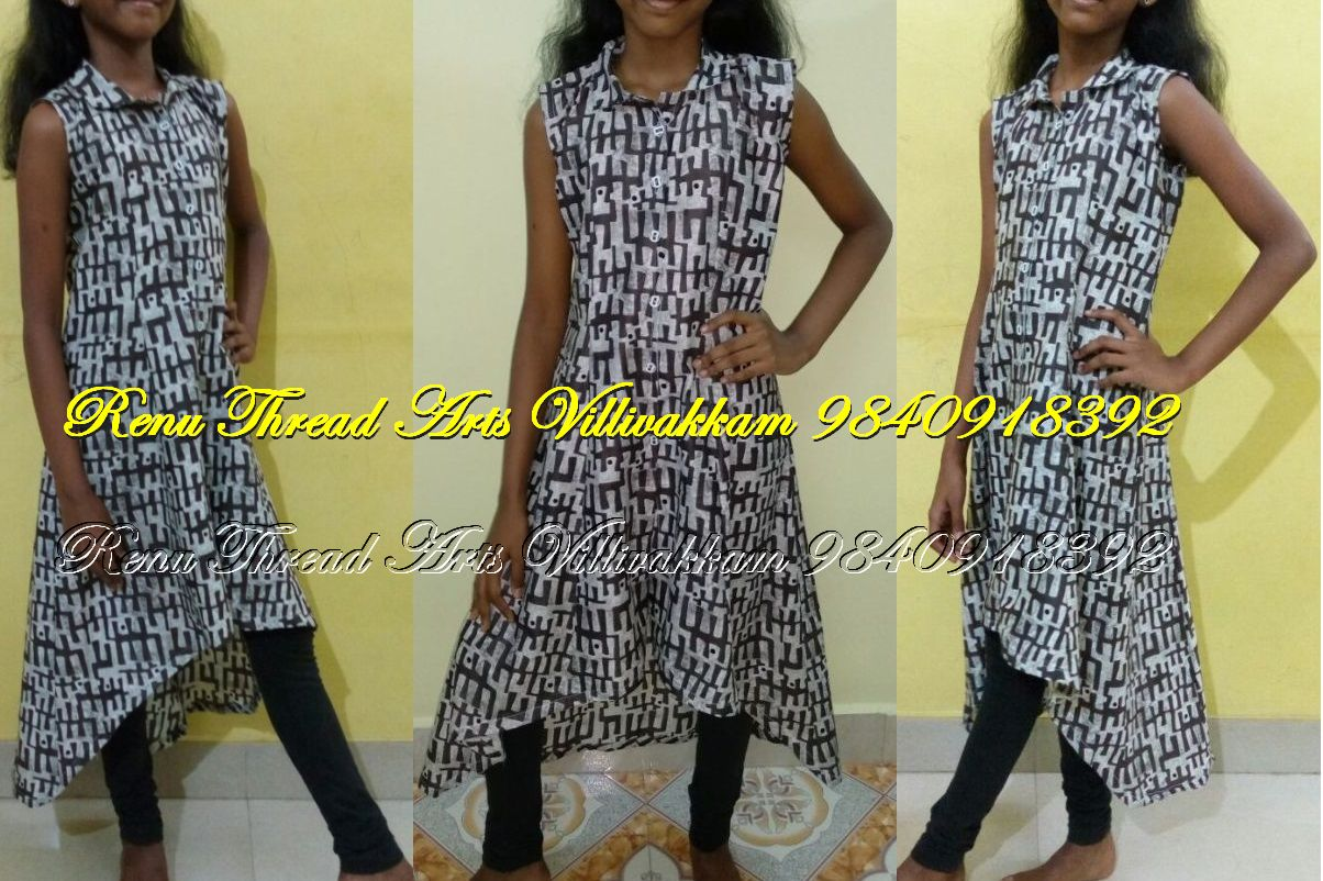 Front slit open, shirt collar with high low kurthi
